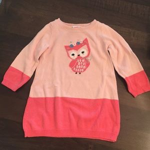 Gymboree owl sweater dress, size 18-24 months